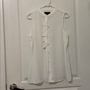 Banana Republic Sleeveless Ruffle Top Medium